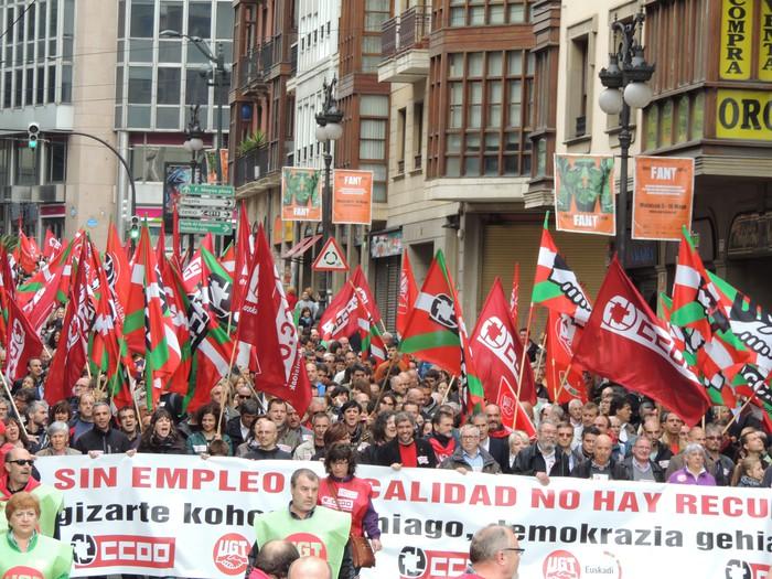 CCOO eta UGT manifestazioa