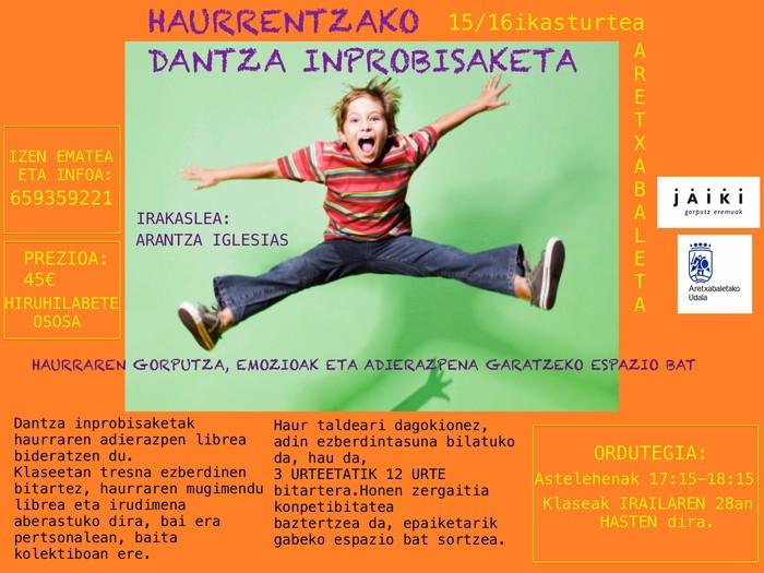Inprobisazio dantza haurrantzat, Arantza Iglesias