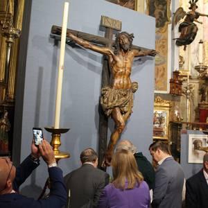 Bergarako Santo Kristo Hilzorikoa ikusgai dago Sevillan