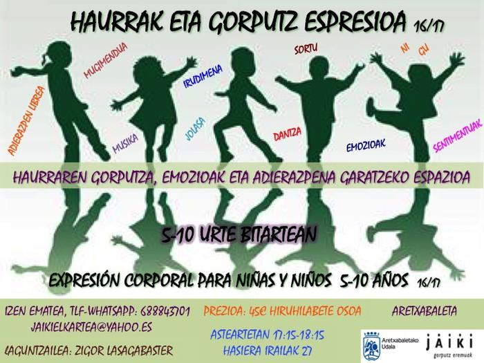 HAURRENTZAKO GORPUTZ ESPRESIO SAIOAK ARETXABALETAN