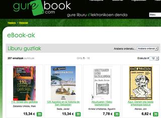 Gurebook.com, euskal liburu elektronikoen webgunea