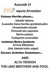 Musika talde berriak zapatuko Info7 Egunaren egitarauan