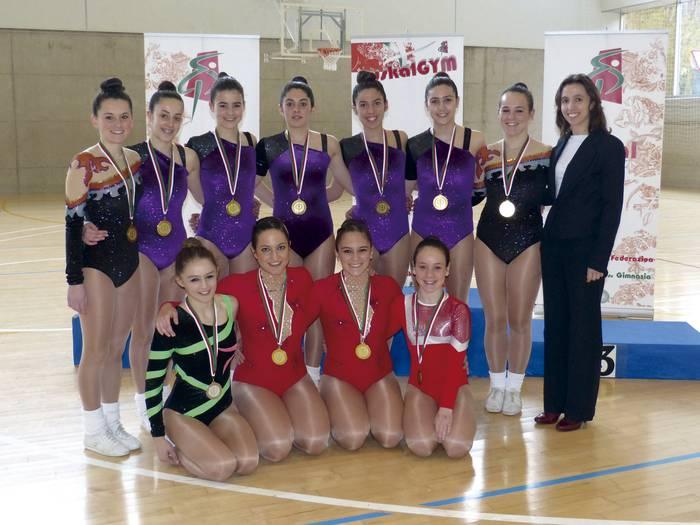 Gimnasiako eskola arteko jokoak eta Euskadiko txapelketa asteburuan