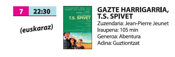 'Gazte harrigarria, T.S. Spivet'