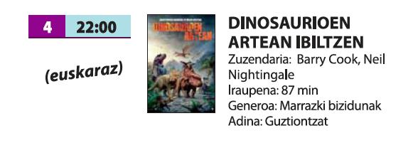 'Dinosaurioen artean ibiltzen'