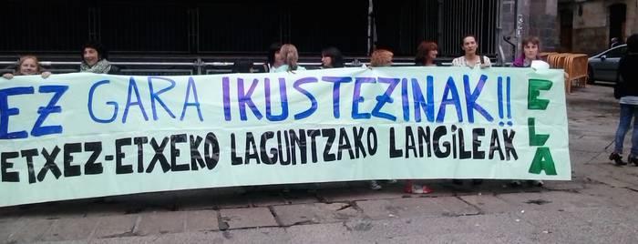 """Etxez etxeko laguntzaileek """"lehenbailehen"""" hitzordua nahi dute udal gobernu berriarekin"""