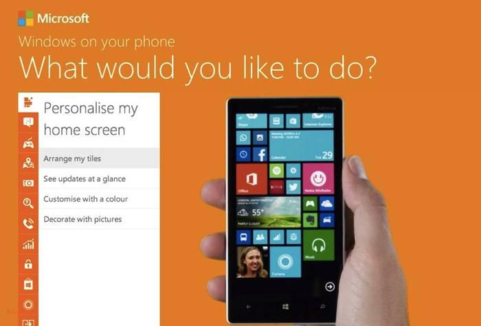 Sistema eragilea ezagutzeko webgunea abiatu du Windows Phone-k