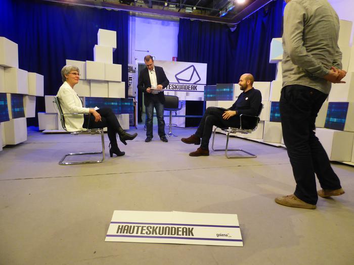 Miren Elgarresta (EAJ) eta Mikel Biain (EH Bildu), parez pare debatean gaur