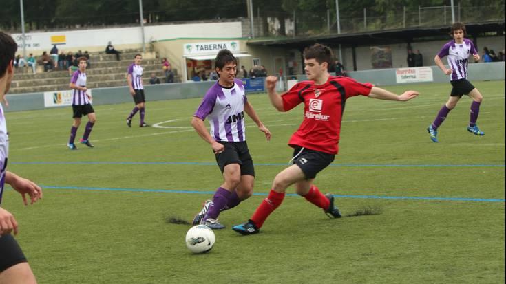 FUTBOLA: Gazte mailan, Aloñak 0-3 galdu du Mondraren kontra