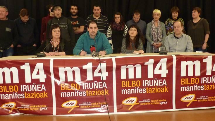 Zapatuko Bilboko manifestazioarako deia egin dute eragile sozialek