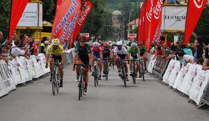 Mikel Aristi bergararra Kantabriako itzuliko lider, bigarren etapa irabazi ostean