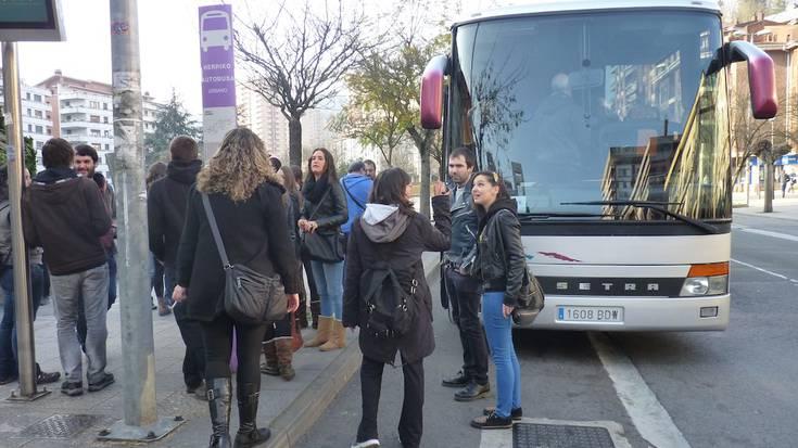 Arrasatetik Bilbora goizean abiatu diren autobusak