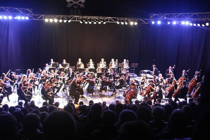 Euskadiko Orkestra Sinfonikoak liluratuta utzi zituen ikusleak Bergaran