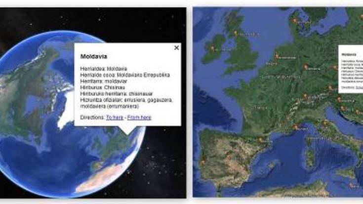 Euskarazko izenak ipini ditu UZEIk Google Maps-en, izendapen ofizialekin