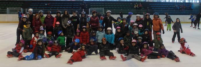 Aramaioko patinaje ikastaroari, amaiera ezin hobea Gasteizko izotz pistan