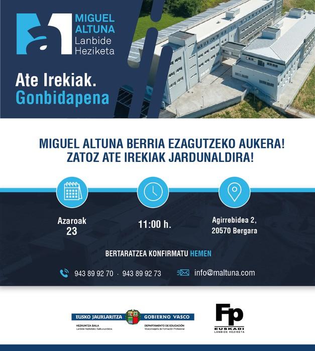 Miguel Altuna LHI-ko Ateak Zabalik jardunaldia.
