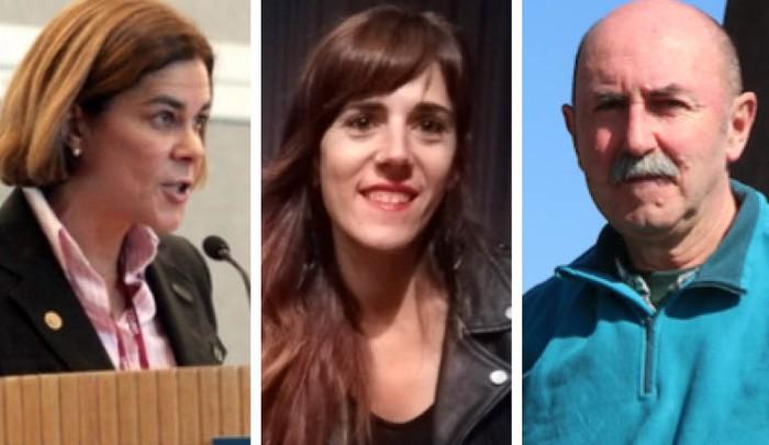 Larrañaga, Zubia eta Garai debagoiendarrak EH Bilduk Espainiako Gorteetarako egin duen zerrendan