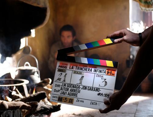 'La trinchera infinita' filma asteburuan Amaia antzokian