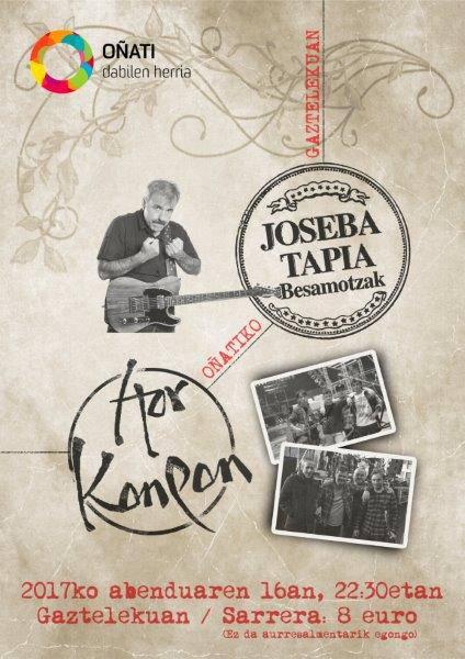 Hor Konpon eta Joseba Tapia