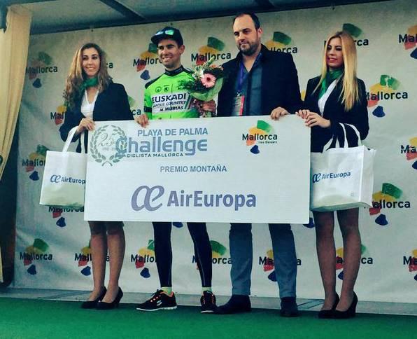 Eneko Lizarraldek mendiko maillota jantzi du Mallorcako Challengeko lehen proban