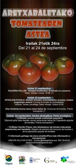 Hitzaldia, bertako tomatea, Aretxabalateko tomatea, hobeto ezagutzeko aukera!