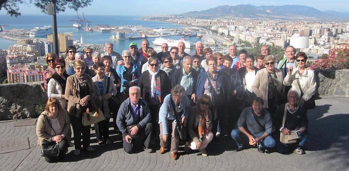 Erretiratuak pozik ibili dira Malaga aldean