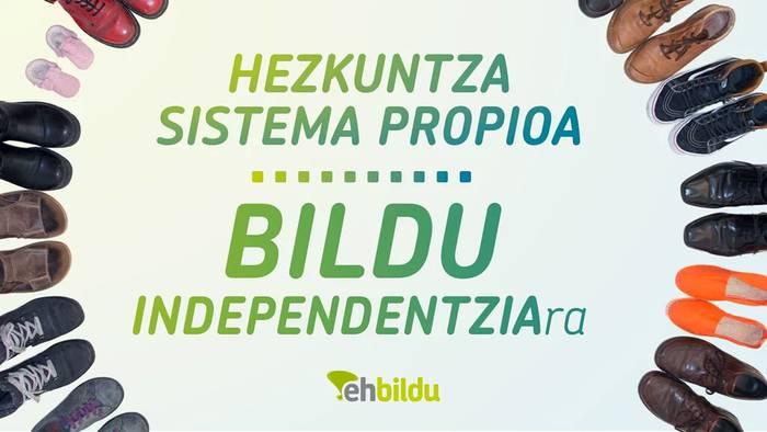 Hezkuntza sistema propioaren alde ehBILDU INDEPEND