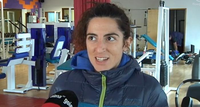 Nere Arregi,  Donostiako Maratoiko podiumean