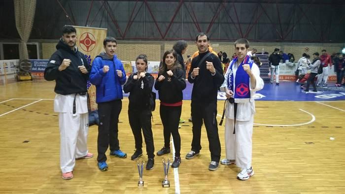 Daniel Barberok eta Eneko Ruizek dominak lortu dituzte Espainiako Karate Kyokushin txapelketan