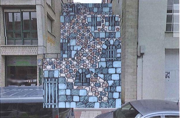 Arrasatearrek aukeratu dute Olarteko eskaileretarako murala