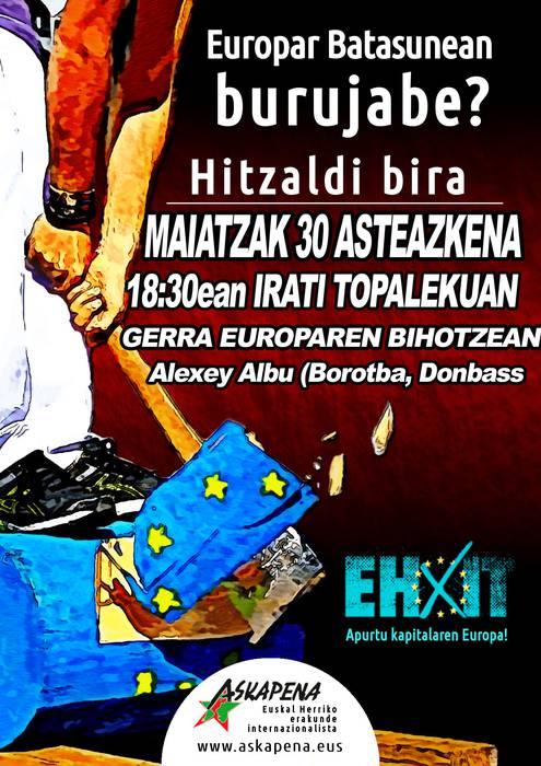 Askapenak Alexey Albu gonbidatu du Donbasseko egoeraren berri emateko