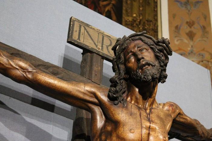Bergarako Santo Kristo Hilzorikoa ikusgai dago Sevillan  - 2