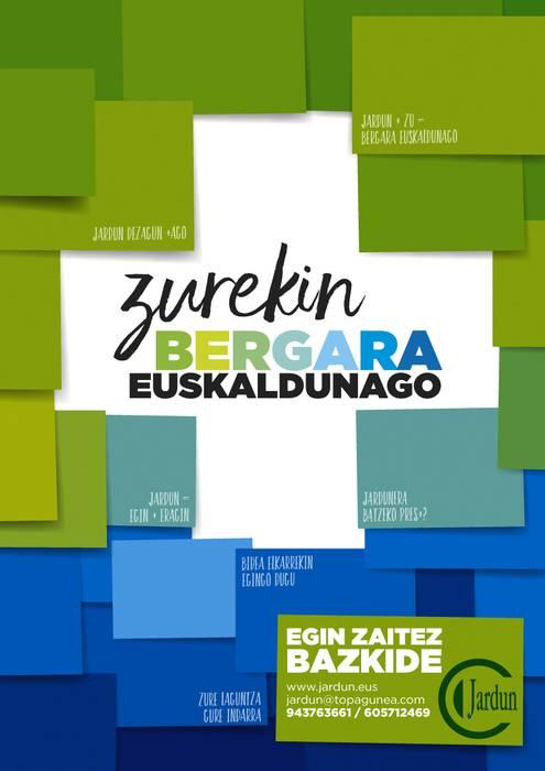 Zurekin Bergara euskaldunago!