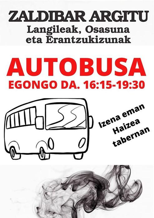 Manifestazio nazionalerako AUTOBUSA egogo da Elgetatik!