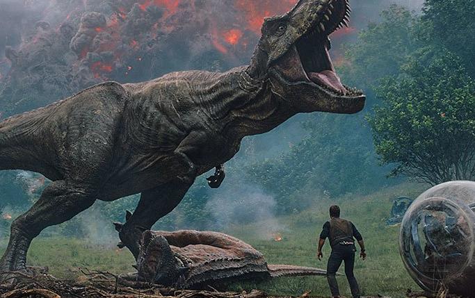 ';Jurassic world: el reino caído' filma