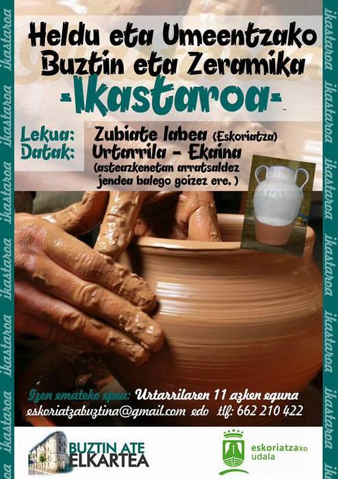 Ikastaroa: Buztingintza eta zeramika tailerra