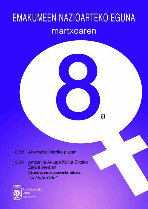 Aldarrikapenerako eguna da Aretxabaletan ere Martxoaren 8a