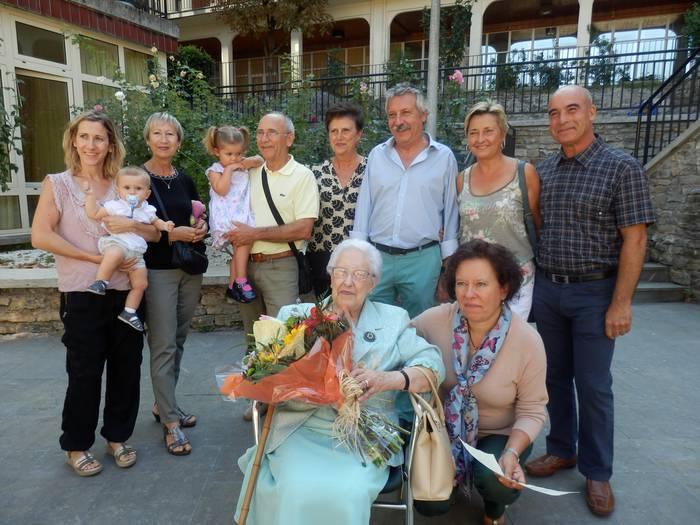 Margarita Querejeta Pintado bergararrak 100 urte bete ditu