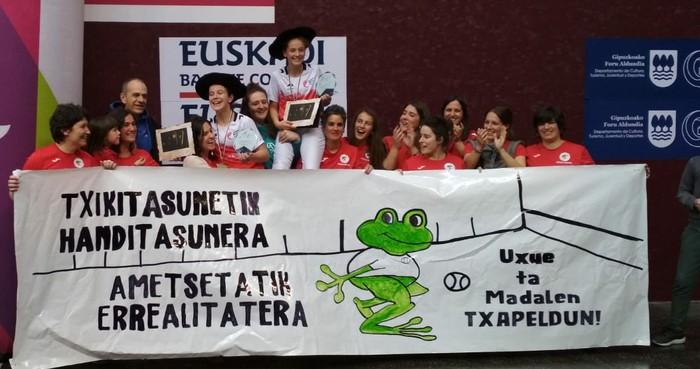 Madalen eta Uxue oñatiarrak txapeldun Master Cupeko promozio mailako txapelketan. Zorionak!!