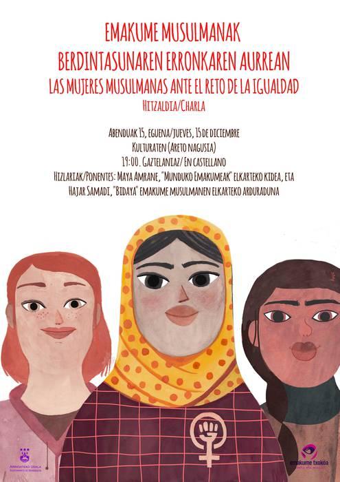 'Emakume musulmanak berdintasunaren erronkaren aurrean' hitzaldia bihar Kulturaten