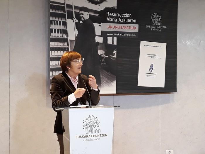 Azkueren 'Ardi Galdua' lana berriro argitaratu du Euskaltzaindiak