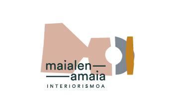 Maialen & Amaia Interiorismoa barne diseinua logotipoa