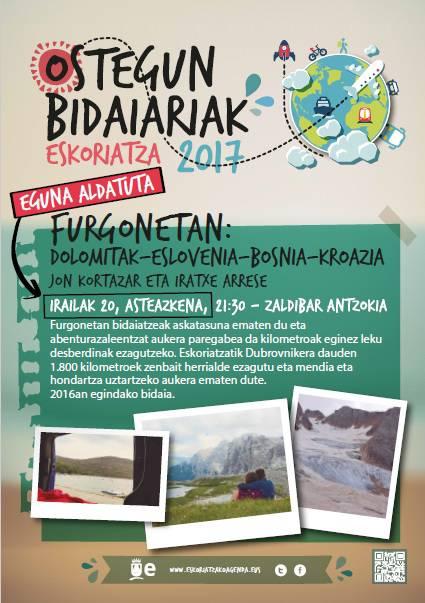 'Furgonetan: Dolomitak–Eslovenia–Bosnia–Kroazia' bidaiaren kontakizuna, eguaztenean