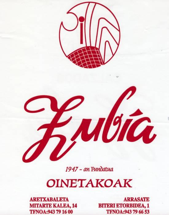 Zubia Oinetakoak logotipoa