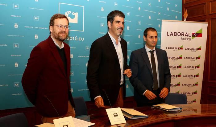Donostia 2016 Europako Kultur Hiriburuari 200.000 eta 500.000 euro artean ekarriko dio Laboral Kutxak