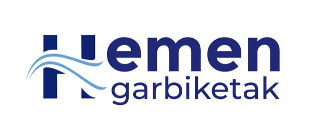Hemen garbiketak logotipoa