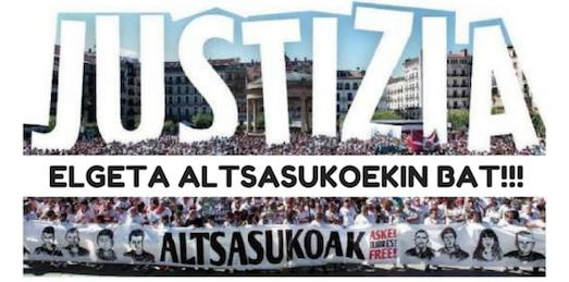 'Altsasukoak aske' lelopean egingo den manifestaziora joateko autobusa irtengo da Elgetatik