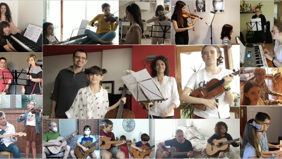 Familian musika eginez gozatu dute Arrasate Musikaleko ikasleek
