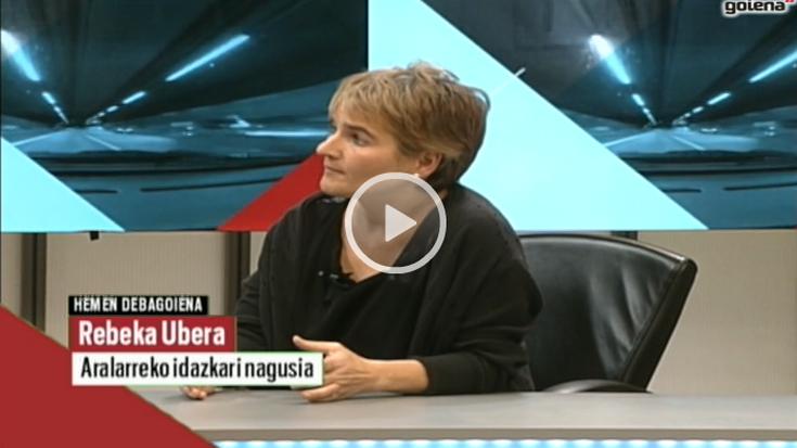 """Rebeka Ubera: """"Alderdia desegiteak ez du esan nahi 'Aralar sentsibilitatea'-k jarraituko ez duenik"""""""