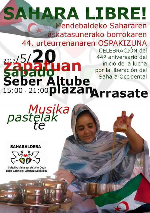 Saharaldeba kolektiboak Seber Altube plaza hartuko du larunbatean